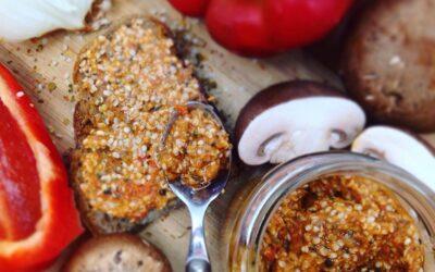 Einfacher Paprika-Hanf-Aufstrich